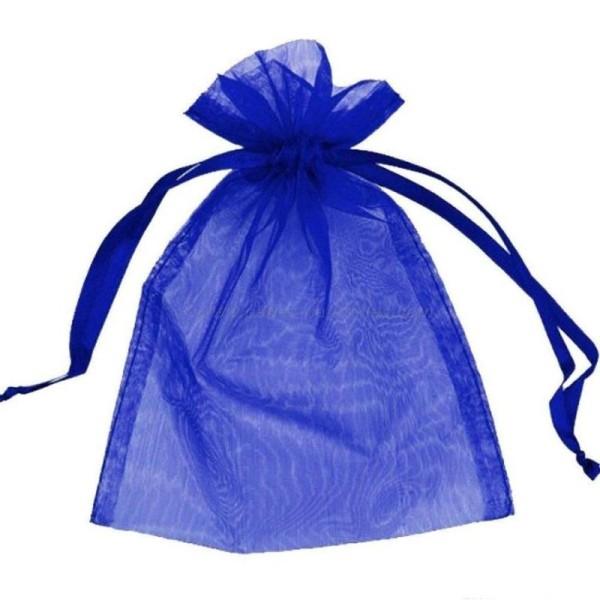 9x12cm - Bleu Foncé - 10 ou 100 Pochettes Organza - Photo n°1