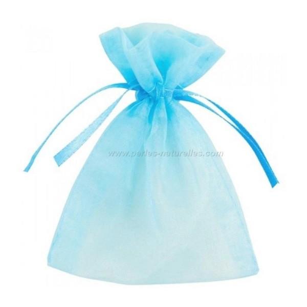 9x12cm - Bleu Clair - 10 ou 100 Pochettes Organza - Photo n°1