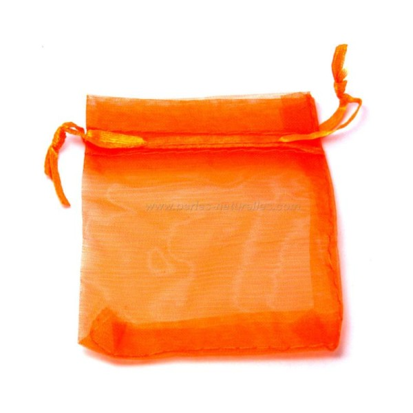 9x12cm - Orange - 10 ou 100 Pochettes Organza - Photo n°2