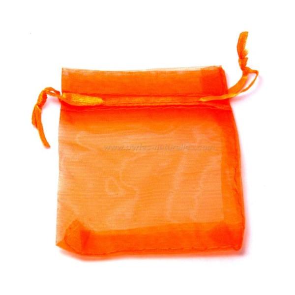 9x12cm - Orange - 10 ou 100 Pochettes Organza - Photo n°1