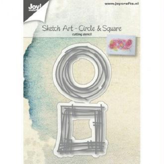 Die Joy Crafts - Sketch art circle & square