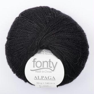 Alpaga, Coloris Noir N°764 - Fonty