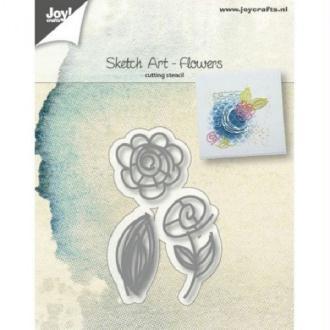 Die Joy Crafts - Sketch art flowers