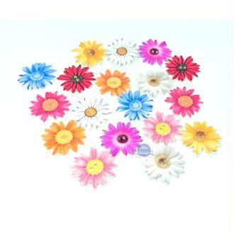 10 Boutons en bois tournesols fleurs 2,5 cm - 2 trous