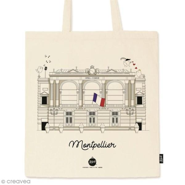 Tote bag Collection Montpellier - Opéra Comédie - 36 x 42 cm - Photo n°1