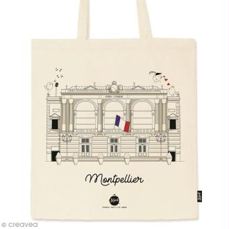 Tote bag Collection Montpellier - Opéra Comédie - 36 x 42 cm