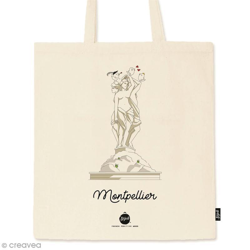 Tote bag Collection Montpellier - Les 3 Grâces - 36 x 42 cm - Photo n°1