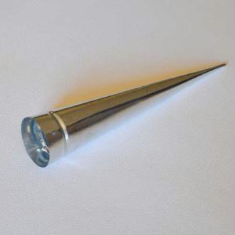 Cône en métal. Diamètre 4 cm Longueur 20 cm Vendu à l'unité