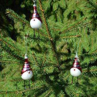 Poussins de Noël. Dim. 9 cm