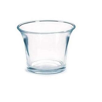 10 Photophores en verre transparent