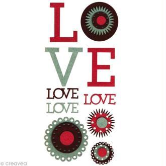 Forme en feutrine Décoration Oldies love x 10