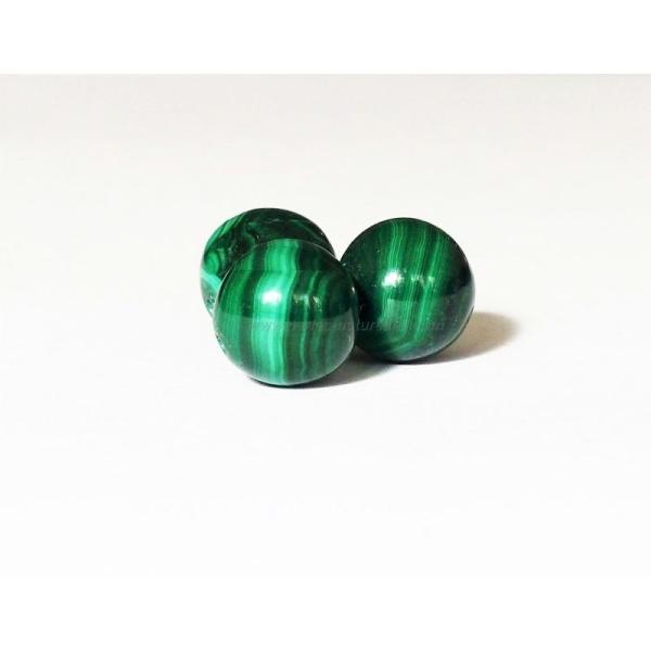 8mm - 10 Perles Malachite Non Teintes 8mm - Photo n°1