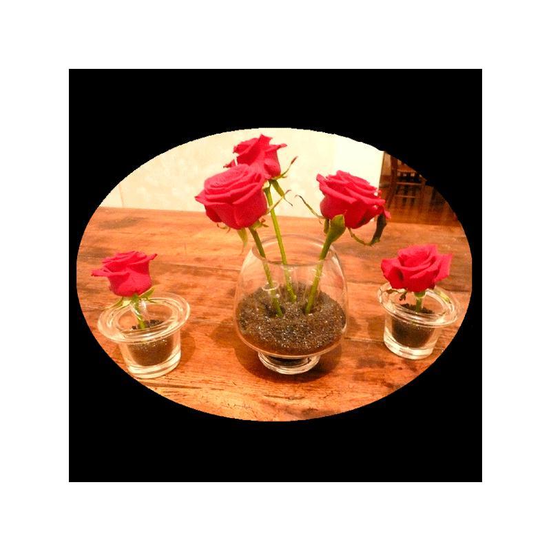 kit centre de table sable color d co table fleur creavea. Black Bedroom Furniture Sets. Home Design Ideas