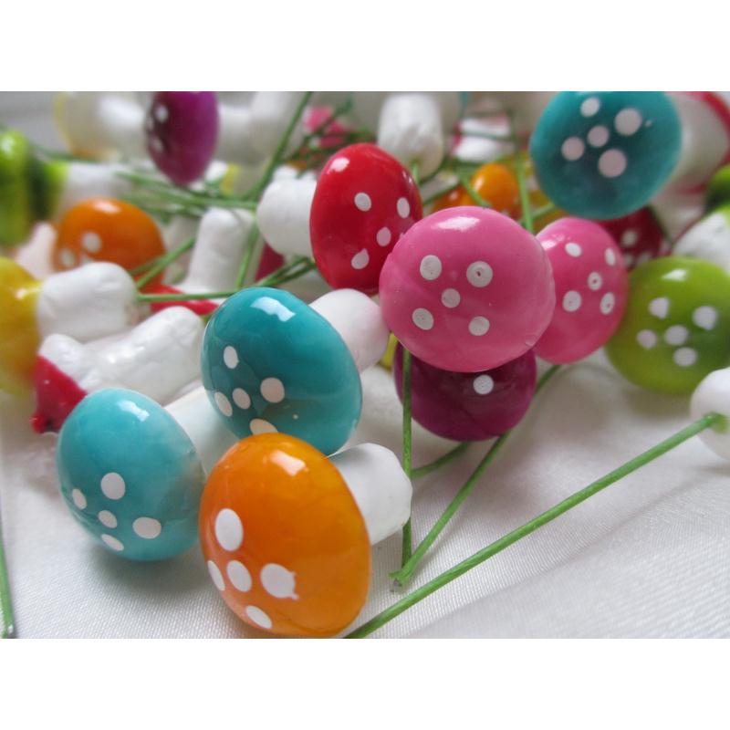 Champignons sur tige mall able 8 pi ces art floral for Art de cuisine de sihem