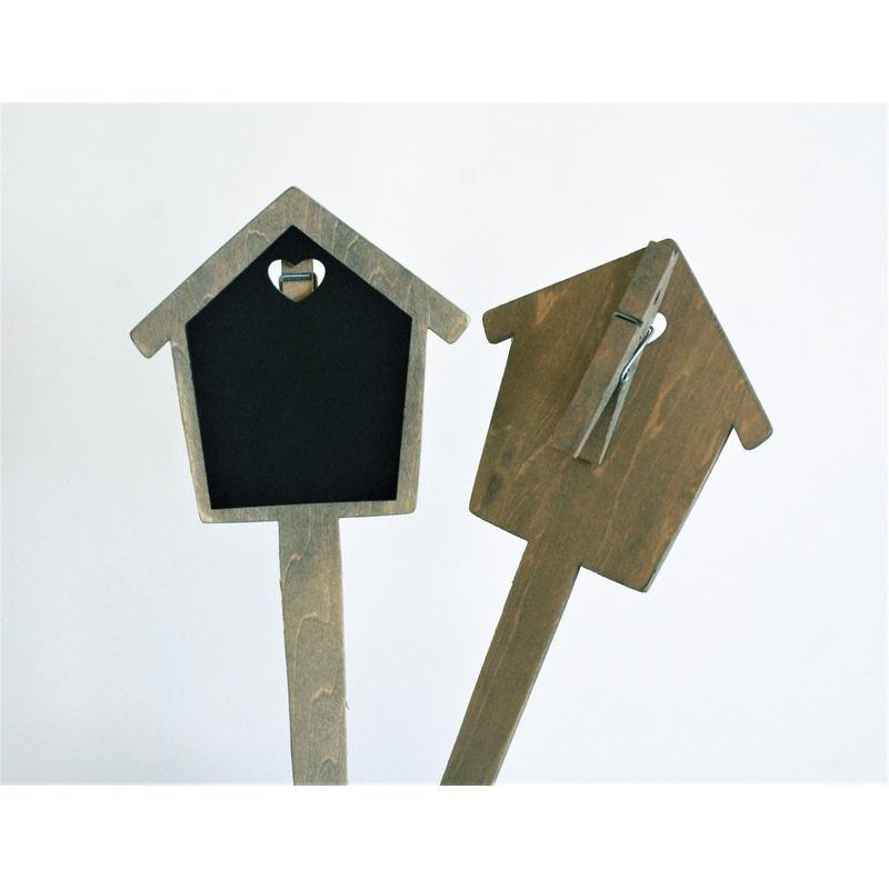 Pique ardoise l11xl11cm pince linge sur pic en bois for Ardoise pour cuisine
