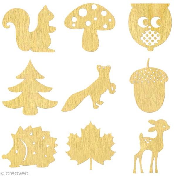 Set de mini silhouettes en bois Automne x 27 - Photo n°1