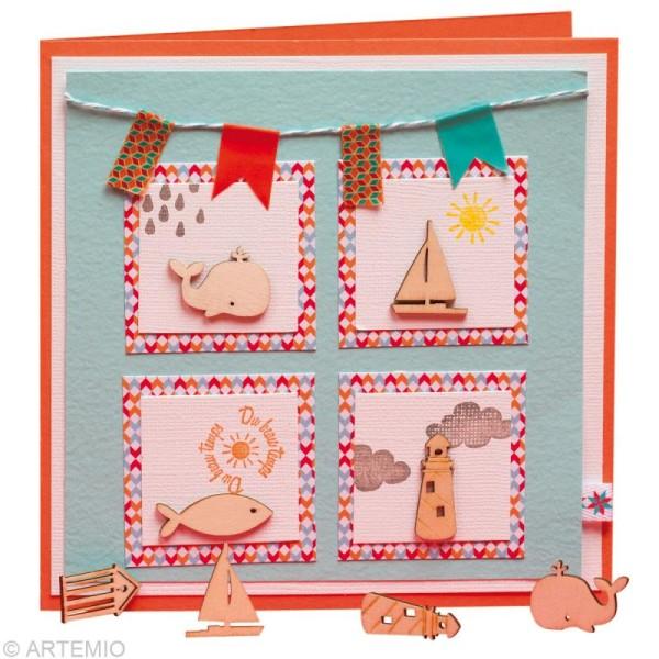Set de mini silhouettes en bois Mer x 27 - Photo n°2