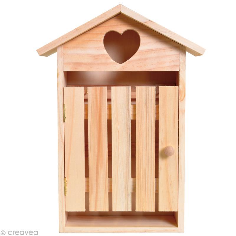 bo te cl s cabine en bois boite en bois d corer. Black Bedroom Furniture Sets. Home Design Ideas