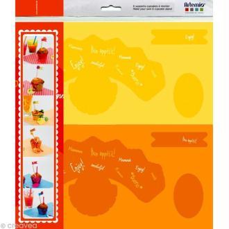 Supports cupcakes papier Fun - 6 pcs à monter