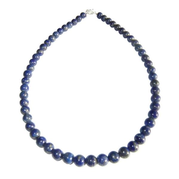 78cm Boules Fermoir Or 8mm Pierres Lapis Collier Lazuli hdtsQrC