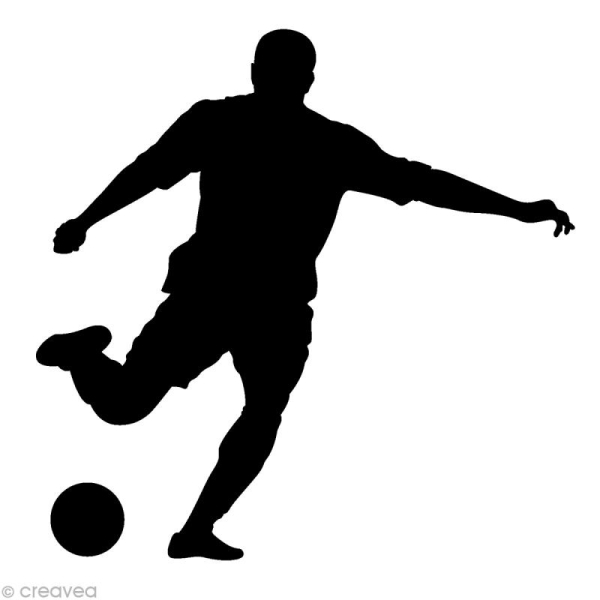 Tampon Sport - Joueur de foot - 4 x 3,7 cm - Photo n°1