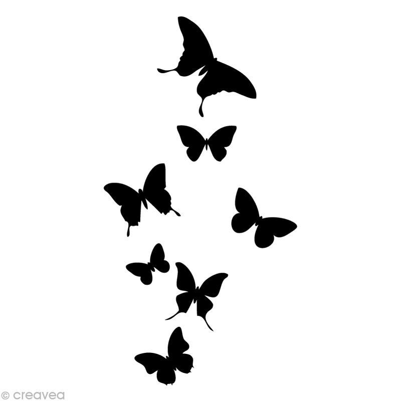 tampon animaux envol de papillon 7 4 x 3 7 cm tampon bois creavea. Black Bedroom Furniture Sets. Home Design Ideas