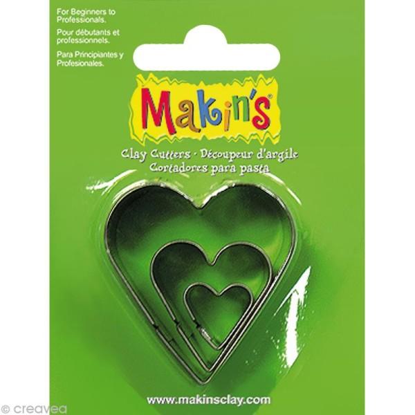 Emporte-pièces Makin's Clay Coeur - 3 pcs - Photo n°1