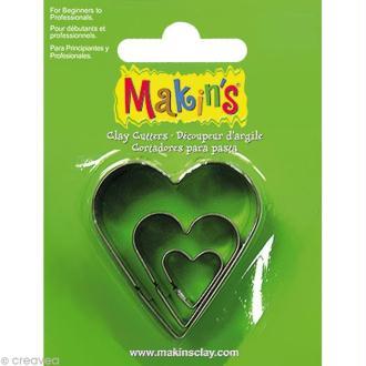 Emporte-pièces Makin's Clay Coeur - 3 pcs