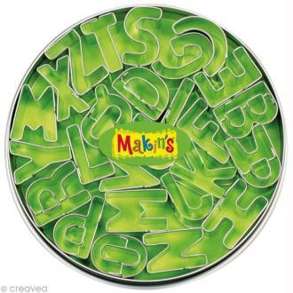 Emporte-pièces Makin's Clay set Alphabet - 26 pcs
