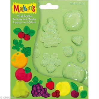 Moules souples push mold Fruits - 16 pcs