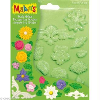 Moules souples push mold Fleurs - 16 pcs