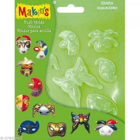 Moules souples push mold Masques - 10 pcs - Photo n°1