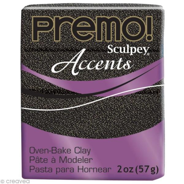 Pâte Sculpey Premo Accent Noir twinkle - 57g - Photo n°1
