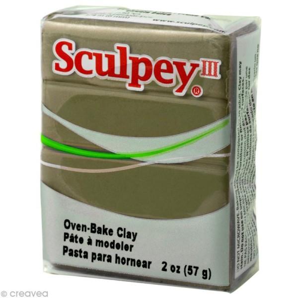 Pâte Sculpey III Beige camouflage - 57g - Photo n°1
