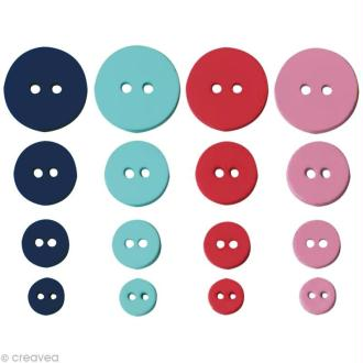 Boutons Rond assortiment Sweet x 36