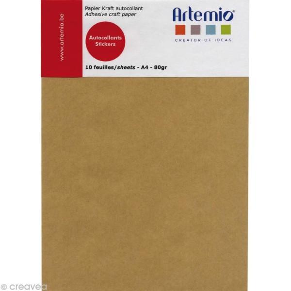 Papier kraft adhésif A4 - 10 feuilles - Photo n°1