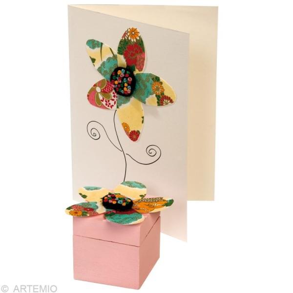 Papier japonais Yuzen Pastel - Set de 10 feuilles 15 x 15 cm - Photo n°3