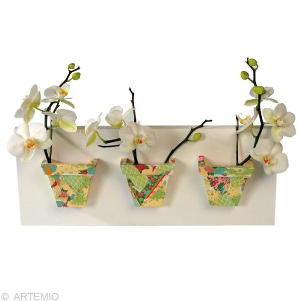 Papier japonais Yuzen Pastel - Set de 10 feuilles 15 x 15 cm - Photo n°4