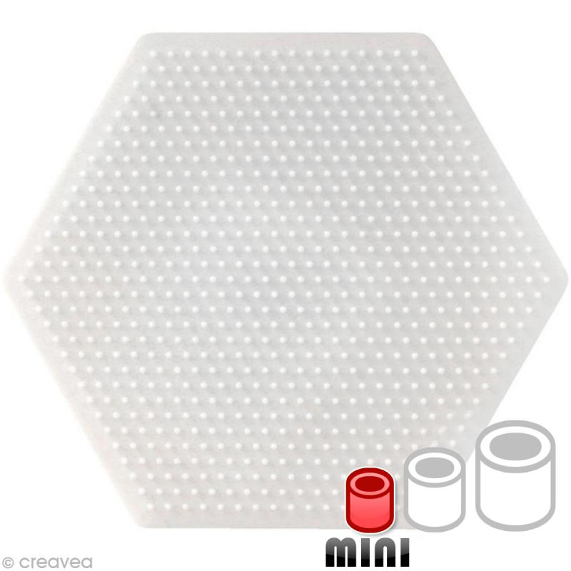 plaque pour perles hama mini hexagone plaque perles repasser mini creavea. Black Bedroom Furniture Sets. Home Design Ideas