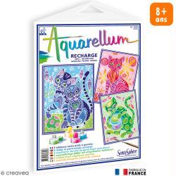 Recharge Tableau à peindre Aquarellum Chats x 3