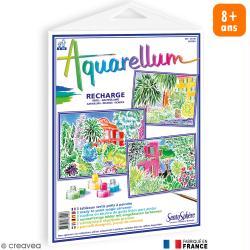 Recharge Tableau à peindre Aquarellum Riviera x 3