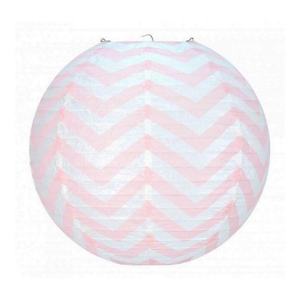 lanterne japonaise zigzag rose p le et blanc de 35 cm. Black Bedroom Furniture Sets. Home Design Ideas