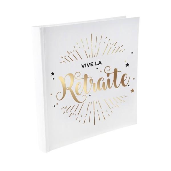 Livre d'or Vive la retraite blanc et or - Photo n°1