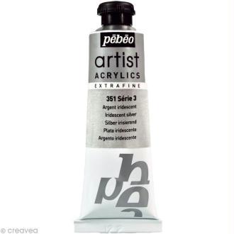 Peinture Artist Acrylics - Iridescent Argent 37 ml