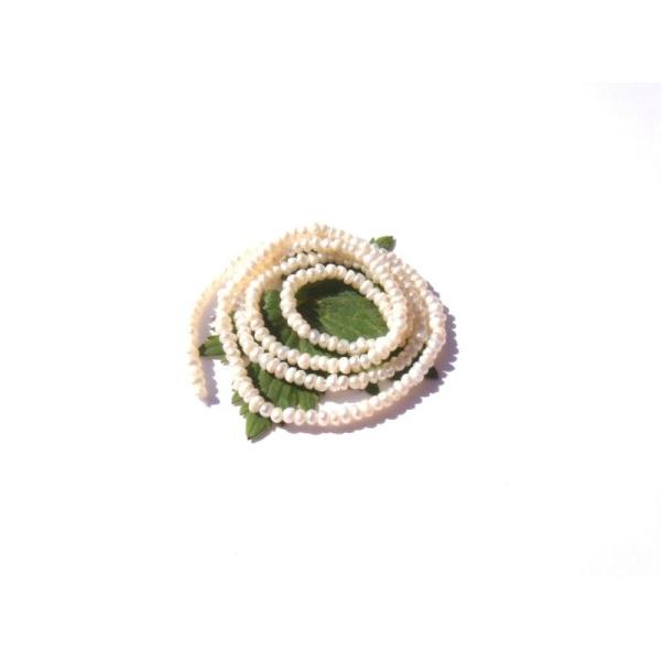 Perles de Culture : 10 MICRO perles irrégulières 2,5 MM x 1,5/2 MM - Photo n°1