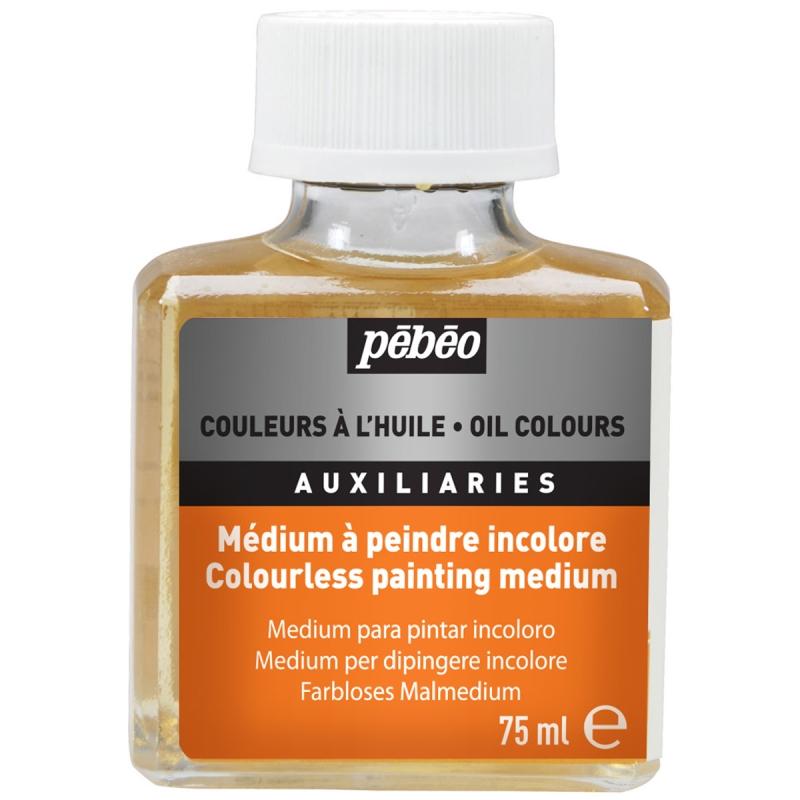 p b o m dium peindre incolore pour couleurs l 39 huile auxiliaires peinture creavea. Black Bedroom Furniture Sets. Home Design Ideas