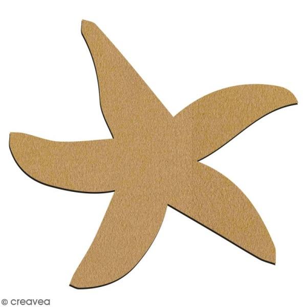 Etoile de mer en bois à décorer - 7 cm - Collection Sirène - Photo n°2