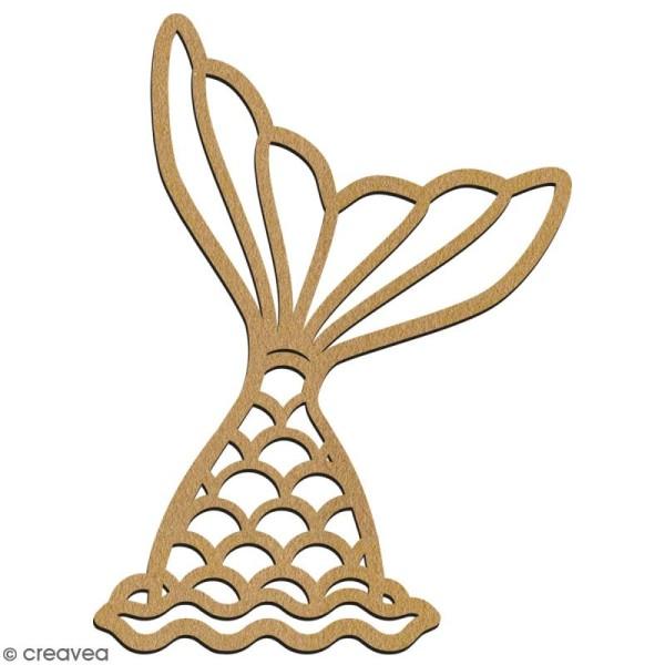 Queue de sirène ajourée en bois à décorer - 7 cm - Collection Sirène - Photo n°2