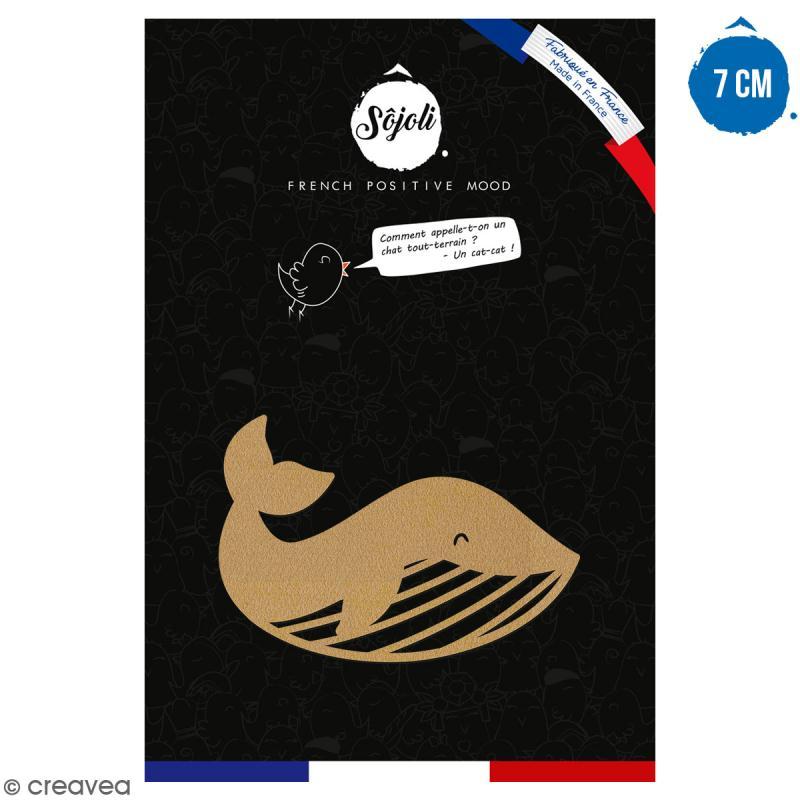Baleine en bois à décorer - 7 cm - Collection Sirène - Photo n°1