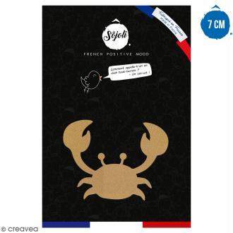 Crabe en bois à décorer - 7 cm - Collection Sirène